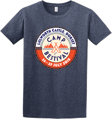 Camp Bestival 2018 'Event Logo' Heather Navy T-Shirt
