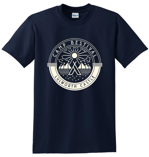 Camp Bestival 2018 'Outdoors Logo' Navy T-Shirt