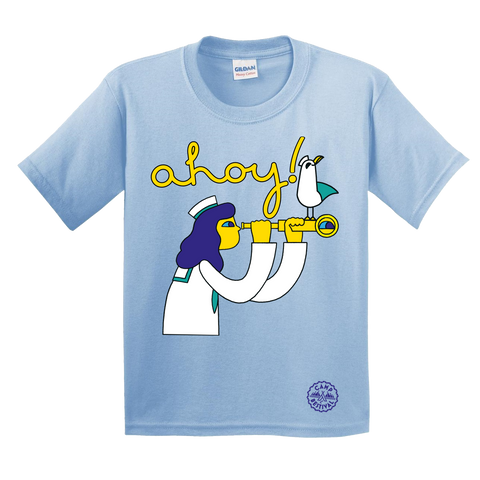Camp Bestival 2018 'Polly' Light Blue Kids T-Shirt