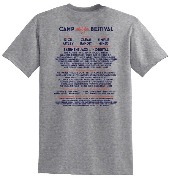 Camp Bestival 2018 'Event Logo' Sports Grey T-Shirt