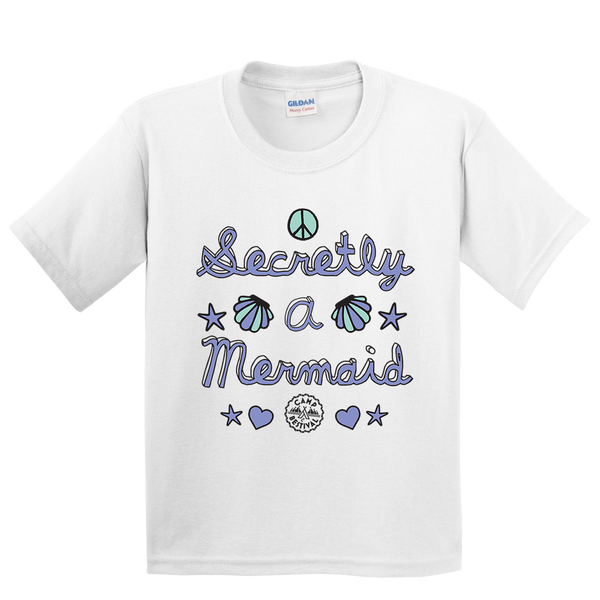 Camp Bestival 2018 'Marianne' White Kids T-Shirt