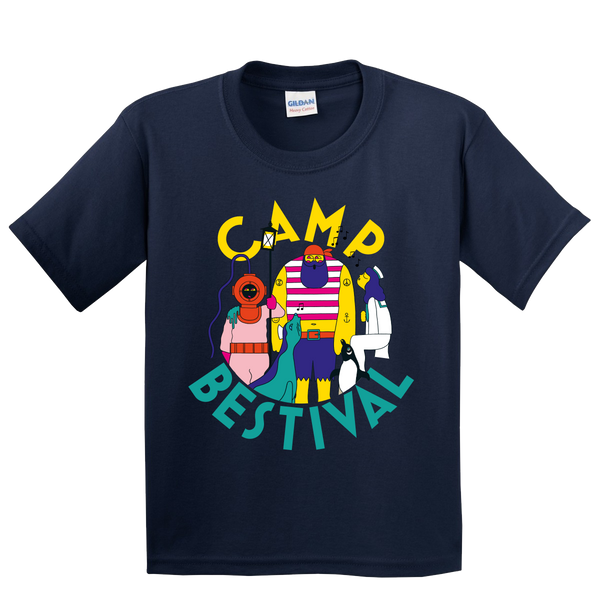 Camp Bestival 2018 'Character Event' Navy Kids T-Shirt