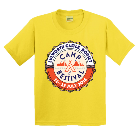 Camp Bestival 2018 'Event Logo' Yellow Kids T-Shirt