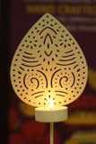 Decorative shadow white tea light candle stand L5
