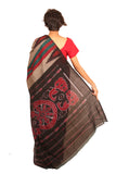 Striped Cotton Handcrafted Saree S10