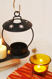Open top green decorative lamp for tea light candle holder. L18