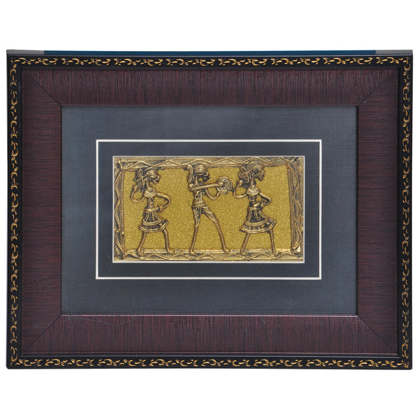 Decorative Dhokra Tribal Dance Art DWH1