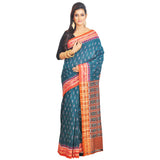 Sambalpuri Dazzling Green Cotton Saree S62