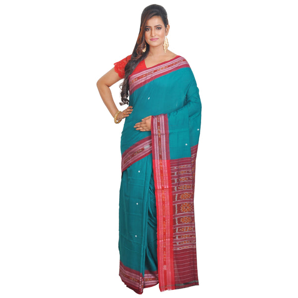 Faded Green and Maroon Scintillating Handmade Saree S53