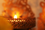 Decorative metal Laxmi shadow tea light candle holder L22