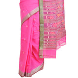 Sambalpuri Pink Cotton Saree S69