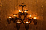 Decorative wall hanging tea light (8) candle holder. L49