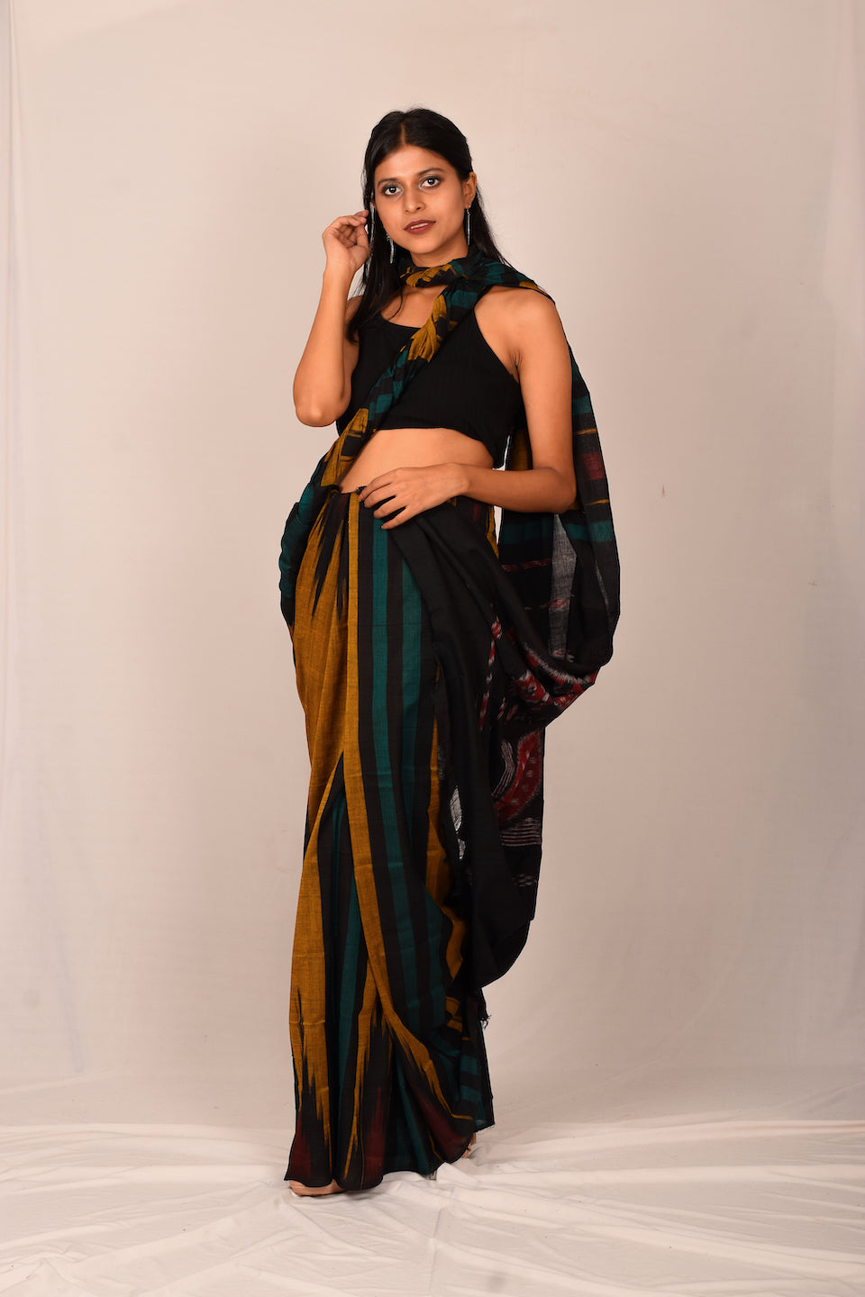 Handmade cotton saree S115