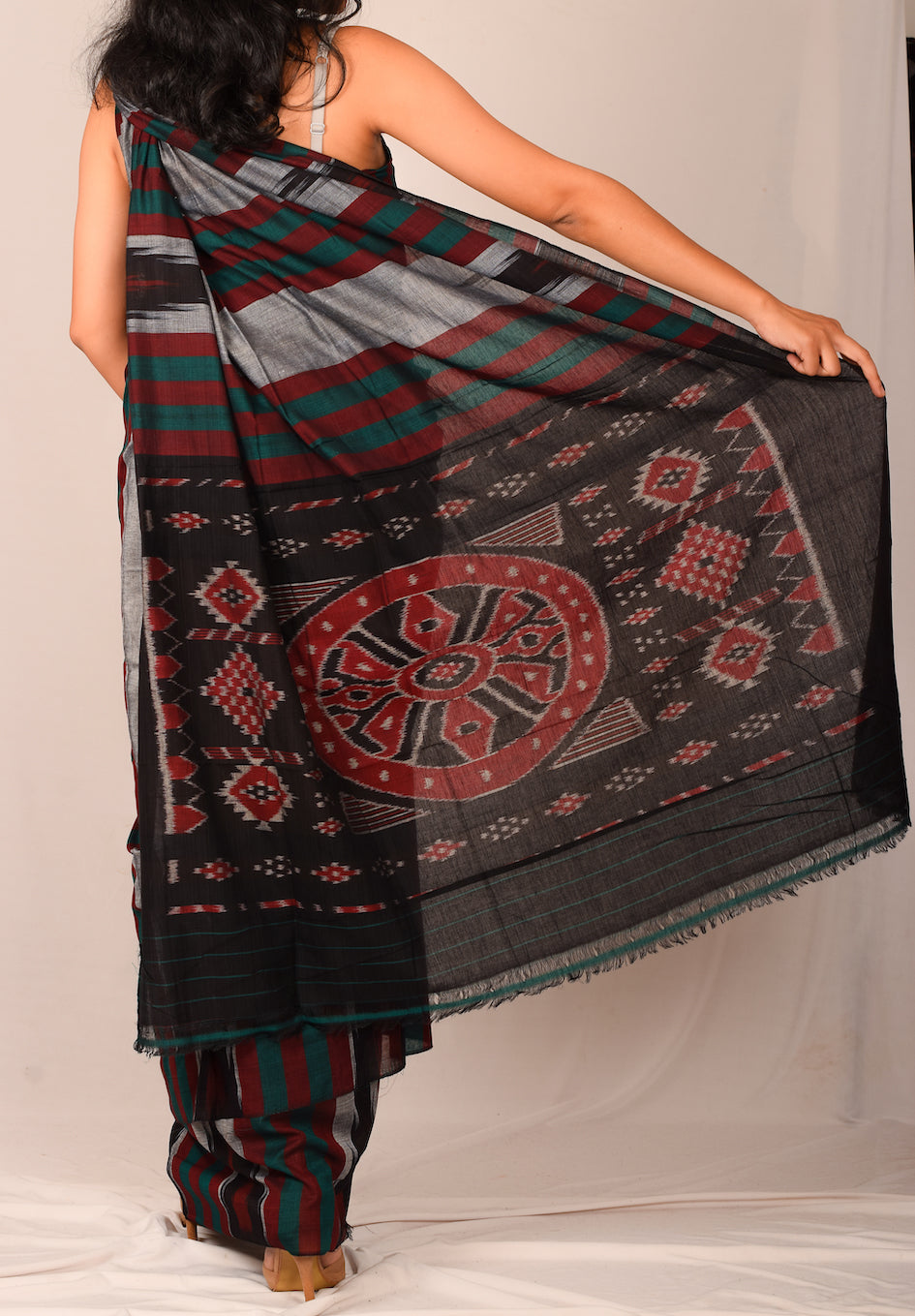 Handmade cotton saree S116