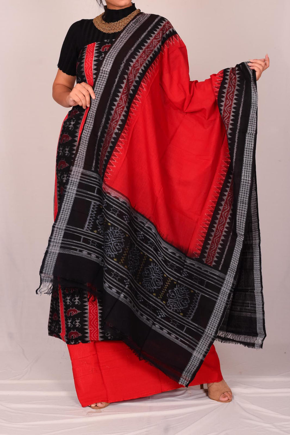 Women's Cotton Unstitched Salwar Suit Dupatta Material  S153