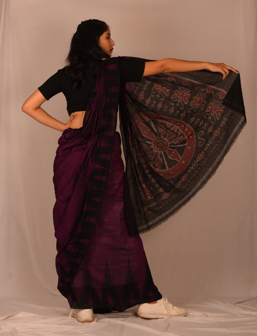 Handmade cotton saree S102