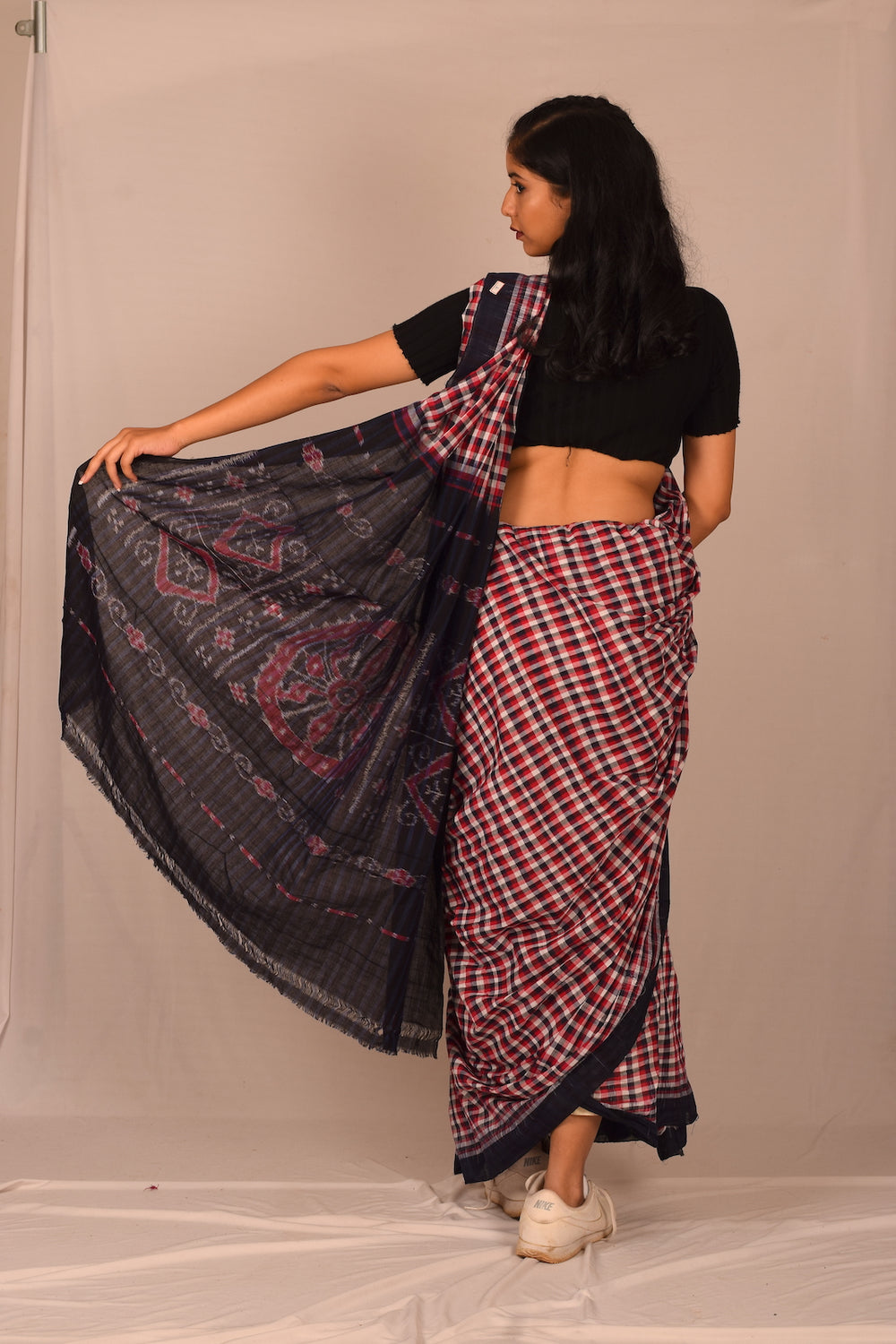 Handmade cotton saree S110