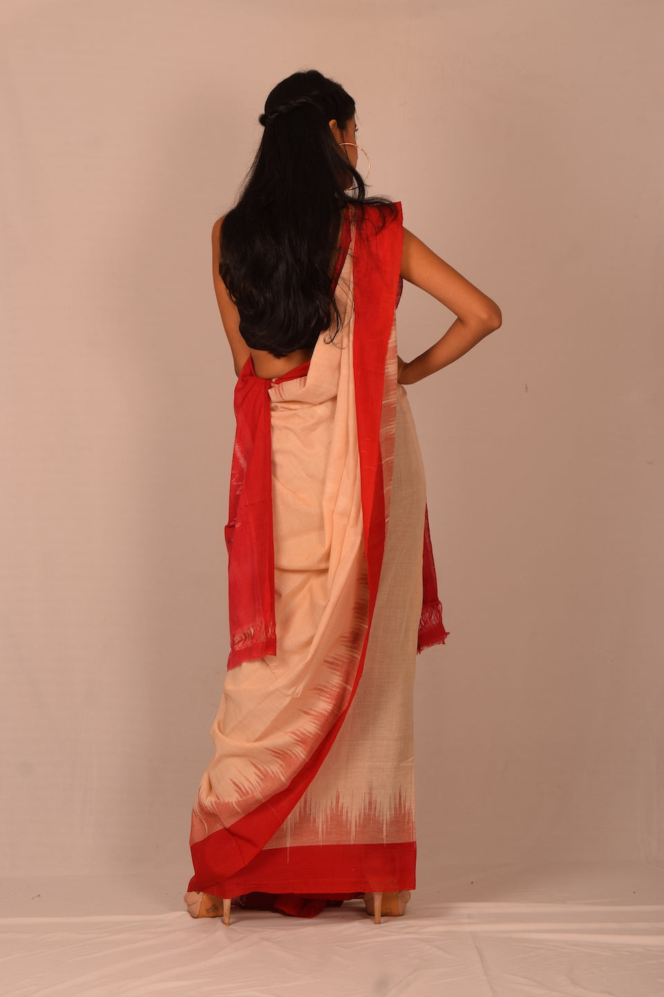 Handmade cotton saree S93