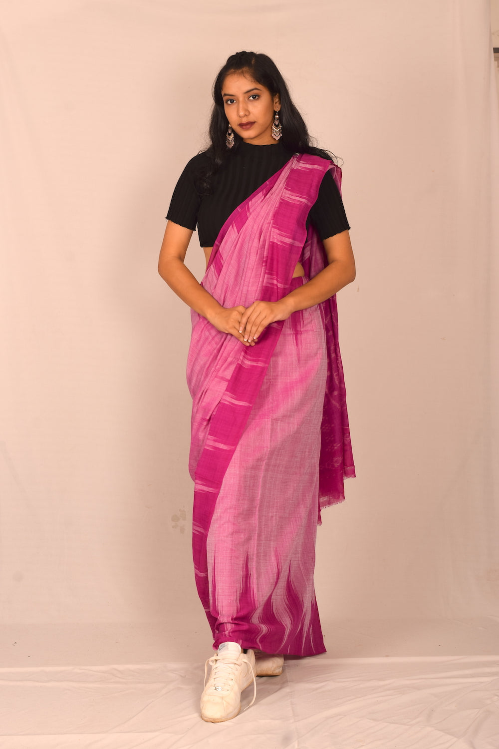 Handmade cotton saree S106