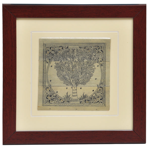 PALM LEAF HAND ENGRAVING TREE.PLWH25