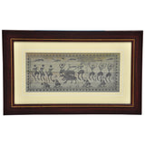 PALM LEAF HAND ENGRAVING TRIBAL PEOPLE ART.PLWH31