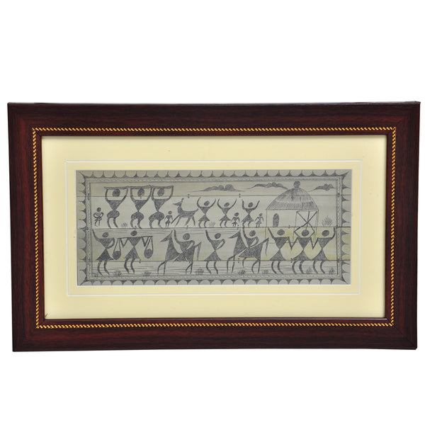 PALM LEAF HAND ENGRAVING TRIBAL PEOPLE.PLWH33