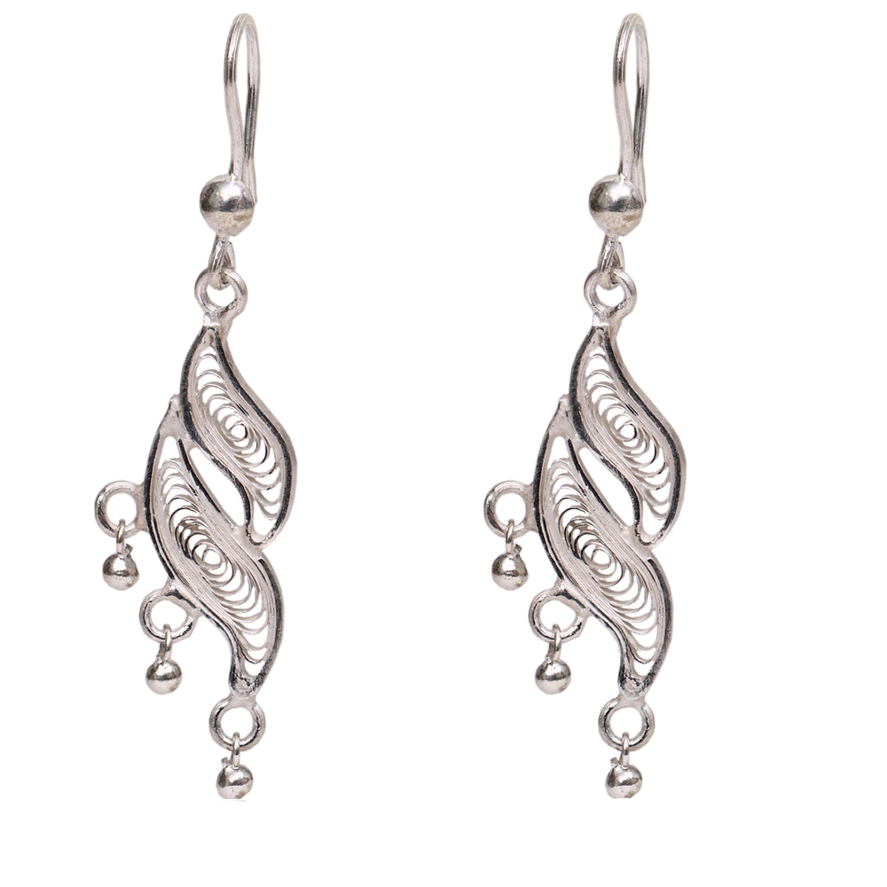Silver Filigree Ear Ring ER4