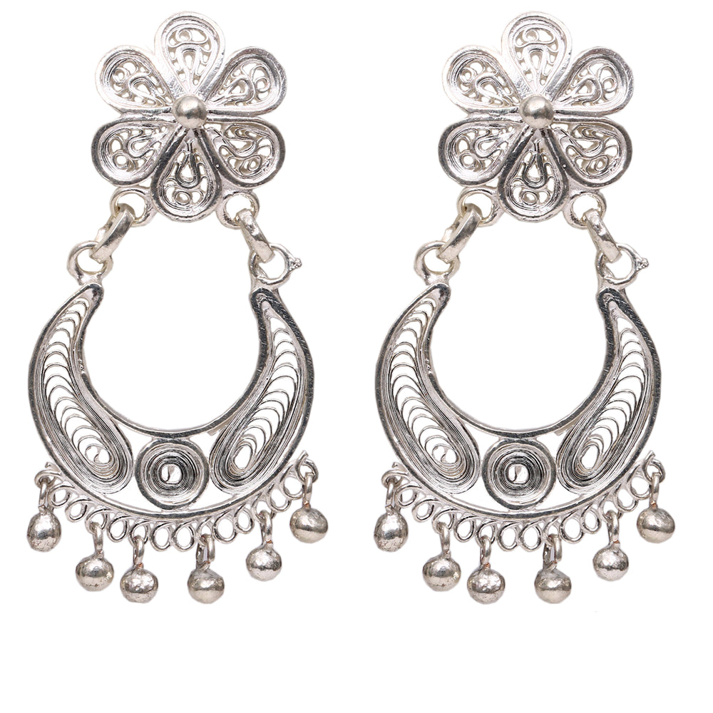 Silver Filigree Ear Ring ER5
