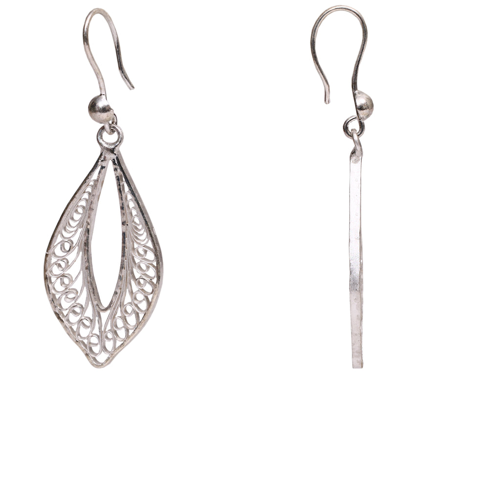 silver Filigree Ear Ring ER13