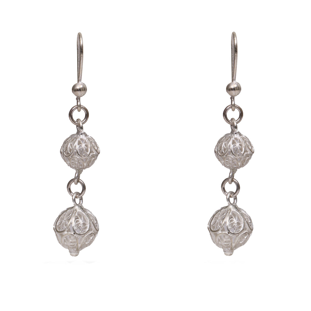 Silver filigree jewellery ear ring ER17