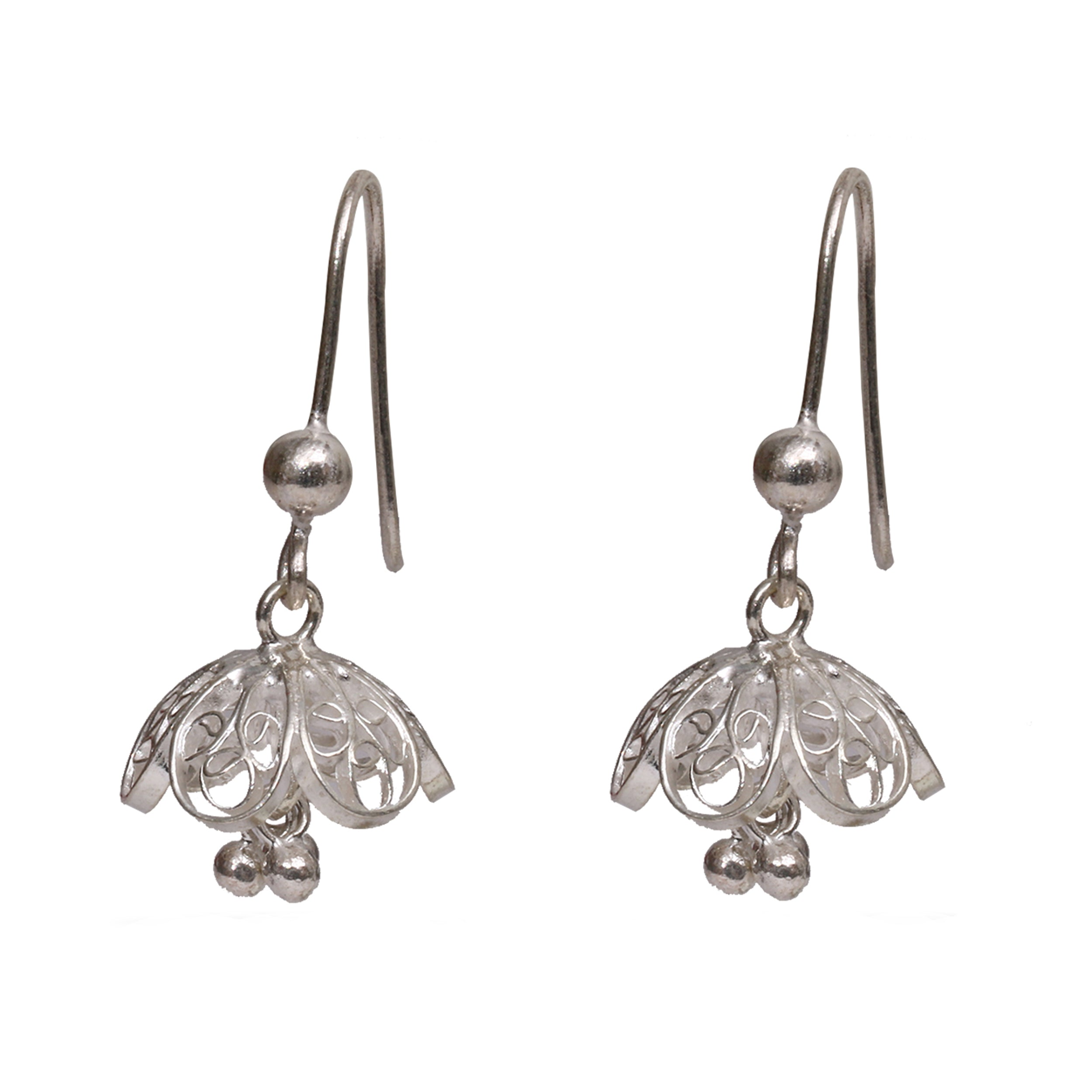 earrings filigree bali hoop silver sterling style oval