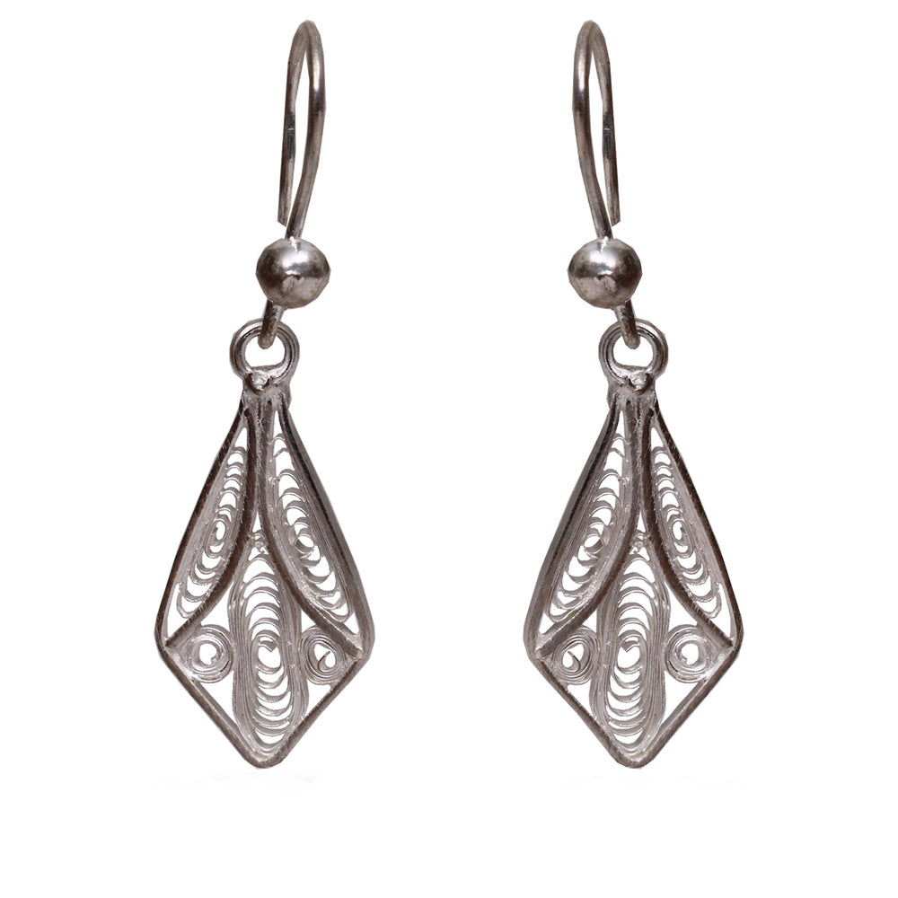 Silver Filigree Ear Ring ER21