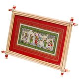 Lemon grass Frame of Lord Sri Krishna Picture for Wall hangings WD1