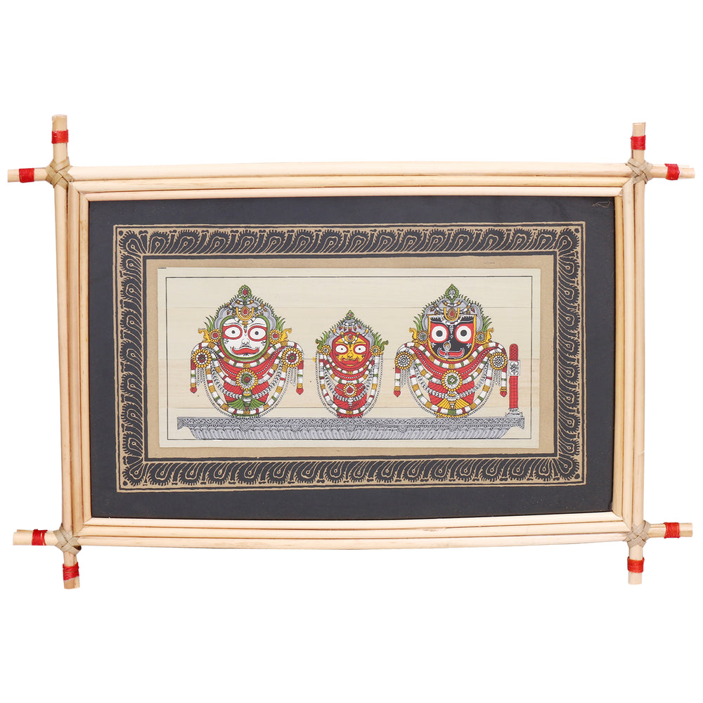 Lemon grass Frame of Lord Puri Jagannath Picture for Wall hangings WD3