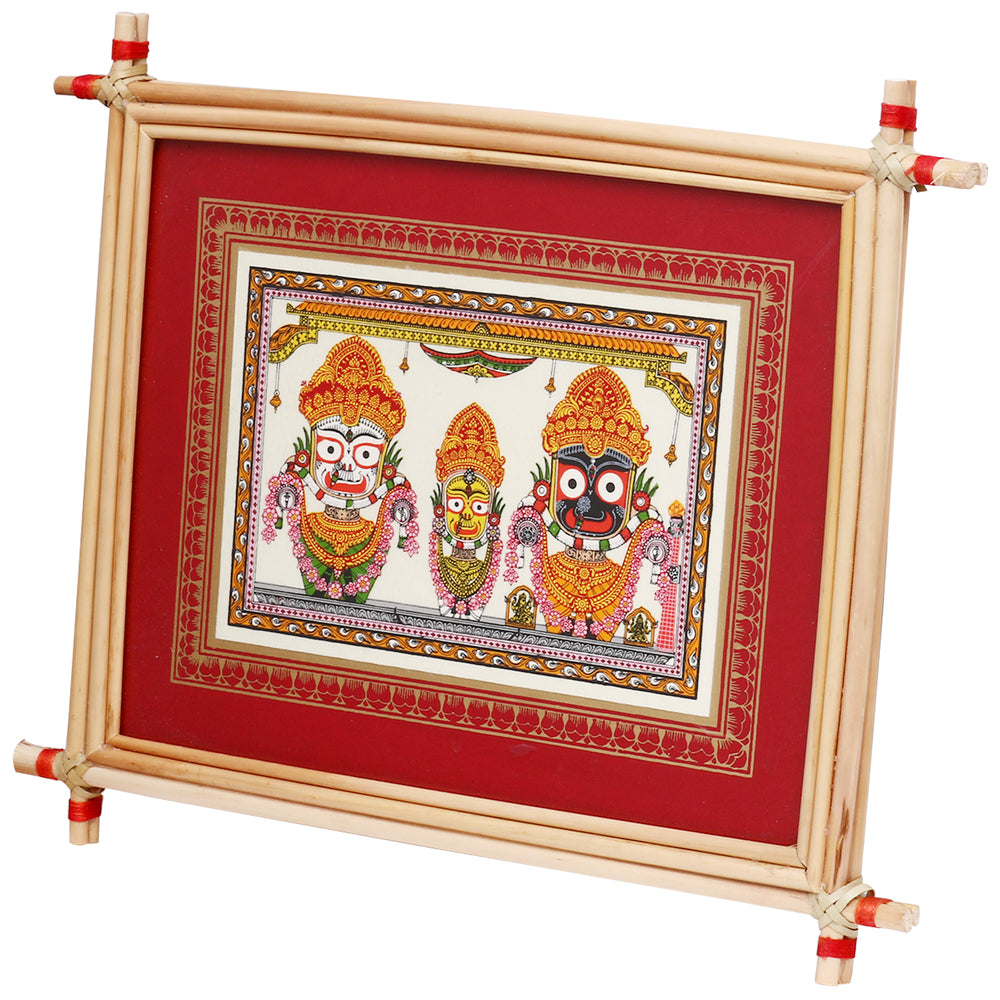 Lemon grass Frame of Lord Puri jagannath Picture for Wall hangings WD4