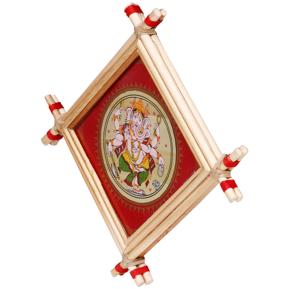 Lemon grass Frame of Lord Vinayaka Picture for Wall hangings WD6