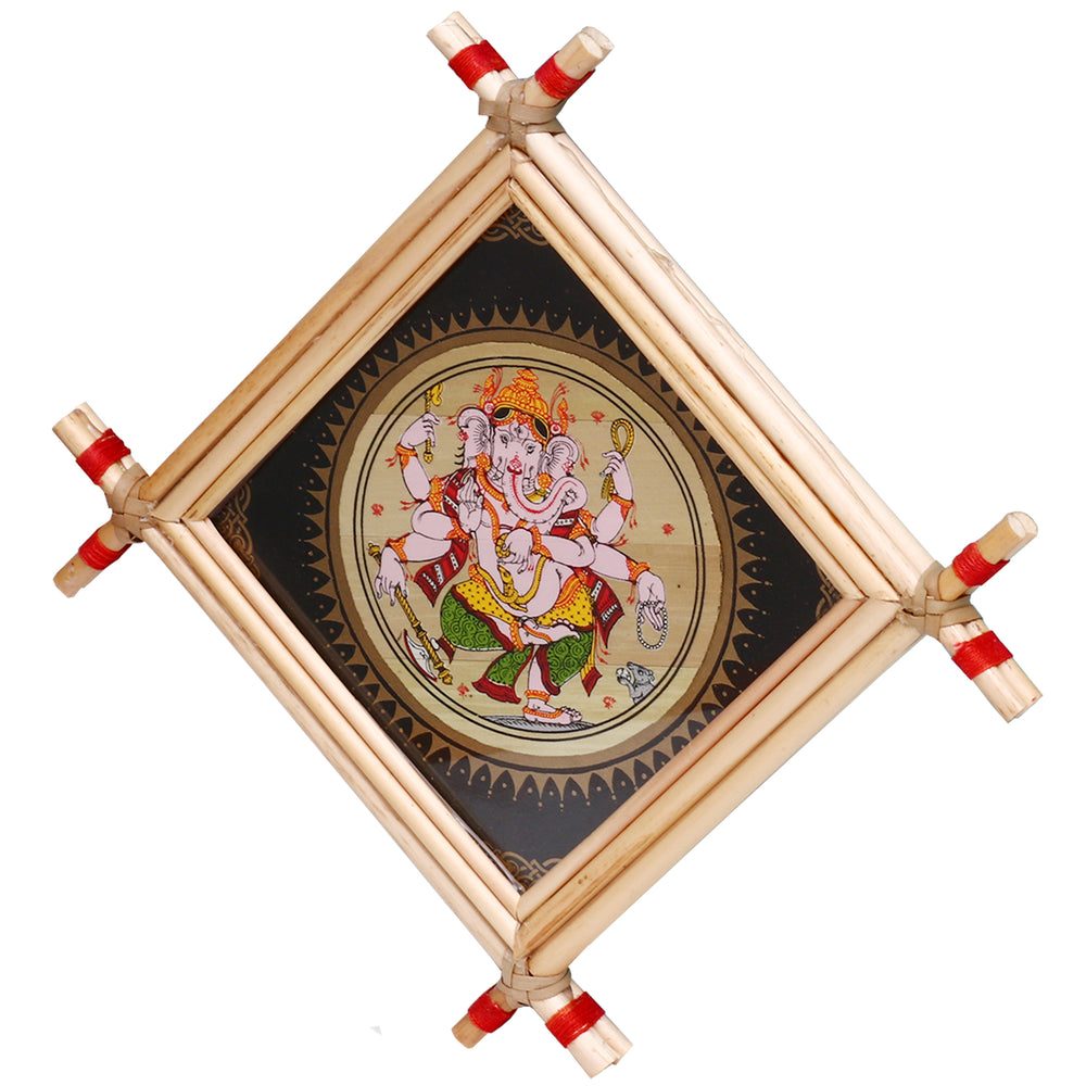 Lemon grass Frame of Lord Vinayak Picture for Wall hangings WD8