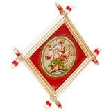 Lemon grass Frame of Lord Vinayak Picture for Wall hangings WD9