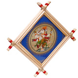 Lemon grass Frame of Lord vinayak on palm leaf for Wall hangings WD10