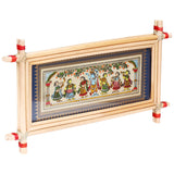 Lemon grass frame of Lord krishna on palmleaf for Wall hangingsWD14