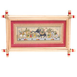 Lemon grass frame of Tribal people with animals for Wall hangings WD15