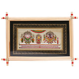 Lemon grass frame of Lord Puri jagannath on palmleaf for Wall hangings WD26