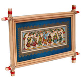 Lemon grass frame of Lord krishna on palmleaf for Wall hangings WD32