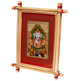 Lemon grass frame of Lord vinayak on palmleaf for Wall hangings WD39