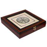 Palm leaf engraved konark chakra multipurpose Handmade Utility Box UB35