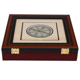 Palm leaf engraved Konark Chakra multipurpose Handmade Utility Box UB37