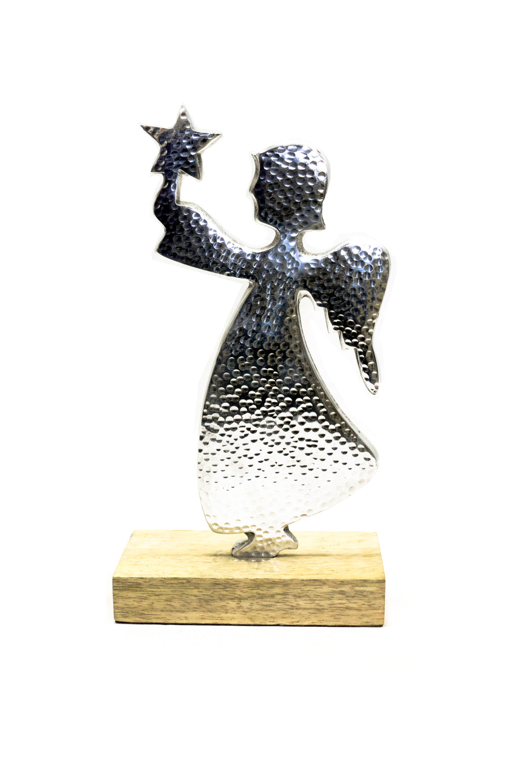Paper mache fairy for children room, silver. CL48