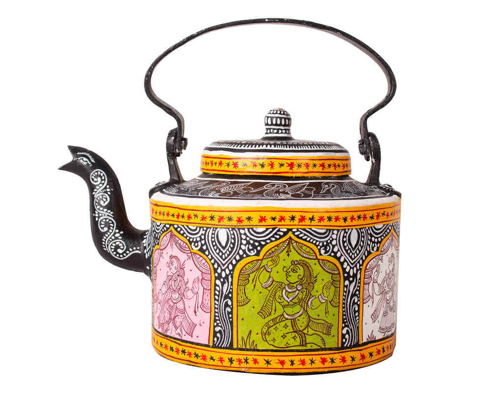 Hand painted kettle k12