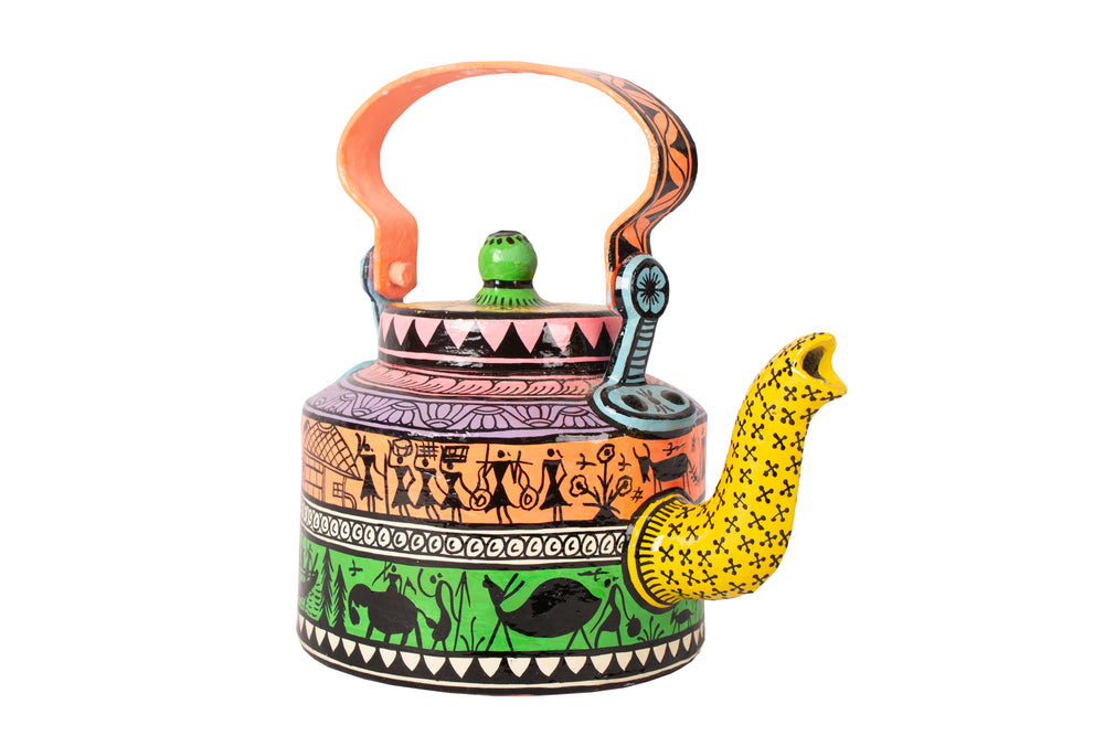 Hand painted kettle K8
