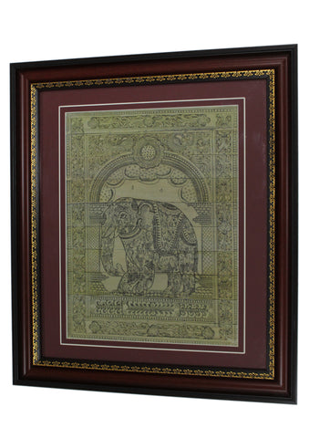 PALM LEAF HAND ENGRAVING Elephant.PLWH52